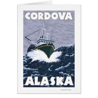 漁船場面- Cordova、アラスカ カード