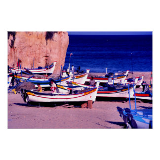 漁船隊、アルガルヴェ地方、ポルトガル ポスター