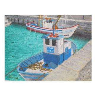 漁船-タリファスペイン ポストカード