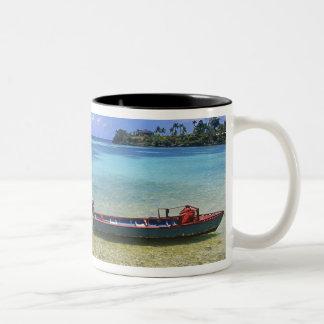 漁船、ボストンビーチ、港Antonio、 ツートーンマグカップ