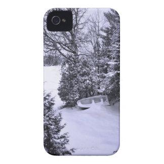 漁船、冬の森林、クリスマスの吹雪 Case-Mate iPhone 4 ケース