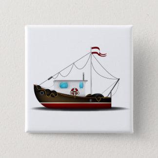 漁船 缶バッジ