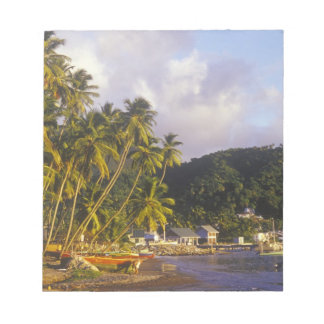 漁船、Soufriere、セントルシア、カリブ ノートパッド