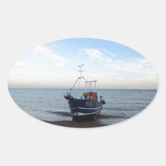 漁船RX256の女の子Kayla 楕円形シール