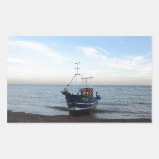 漁船RX256の女の子Kayla 長方形シール