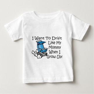 漂流は私のお母さんを好みます ベビーTシャツ