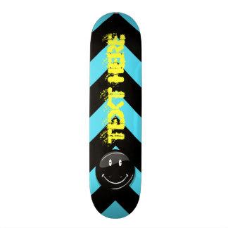 漆黒のヒップスターの幸せな顔 スケートボードデッキ