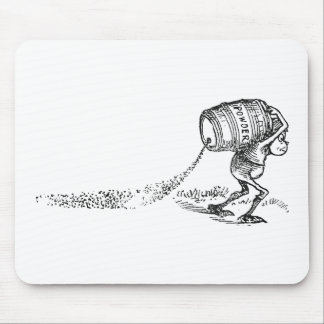 漏れやすいバレルを運ぶブラウニー マウスパッド