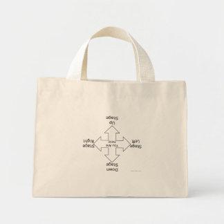 演出の淡色のバッグ ミニトートバッグ