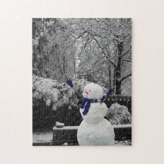 演劇で霜の降りた ジグソーパズル