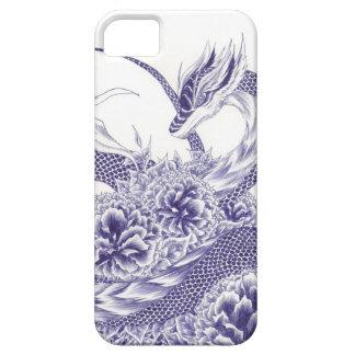 """""""演劇で""""のドラゴンおよびシャクヤクのiPhone 5/5sカバー iPhone SE/5/5s ケース"""