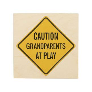 演劇のおもしろいな注意の印の祖父母 ウッドウォールアート