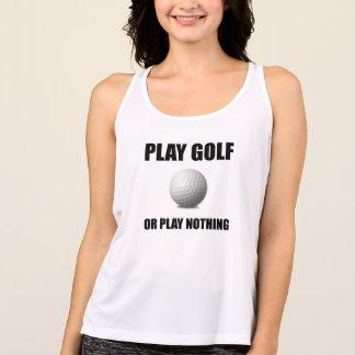 演劇のゴルフまたは何も タンクトップ
