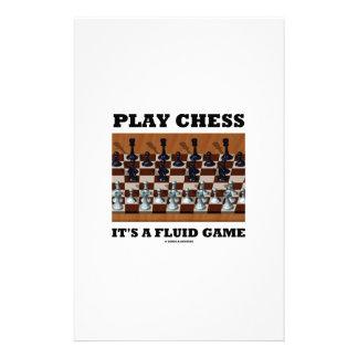 演劇のチェスそれはです流動ゲーム(チェスの実体画) 便箋