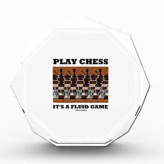 演劇のチェスそれはです流動ゲーム(チェスの実体画) 表彰盾