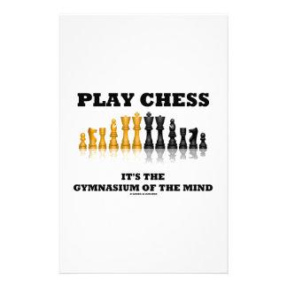 演劇のチェスそれは心の体育館です 便箋