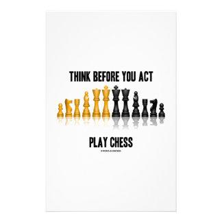 演劇のチェス(反射チェス)行動する前に考えて下さい 便箋