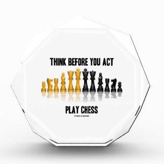 演劇のチェス(反射チェス)行動する前に考えて下さい 表彰盾