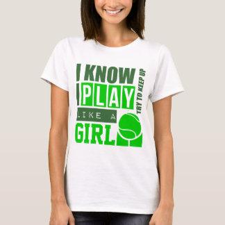演劇のテニスは女の子を好みます Tシャツ