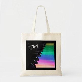 演劇のピアノ虹音楽トートバック トートバッグ