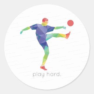 演劇の堅いサッカーOrigami ラウンドシール