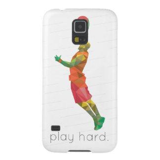 演劇の堅いバスケットボールOrigami Galaxy S5 ケース