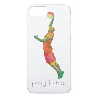 演劇の堅いバスケットボールOrigami iPhone 8/7ケース