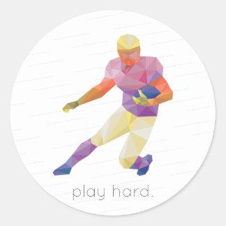 演劇の堅いフットボールOrigami ラウンドシール