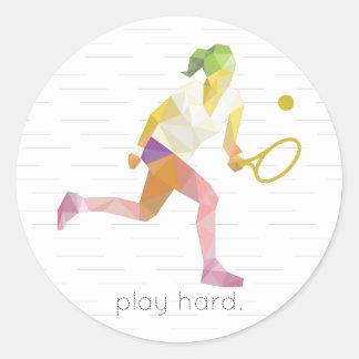 演劇の堅いOrigamiのテニス ラウンドシール