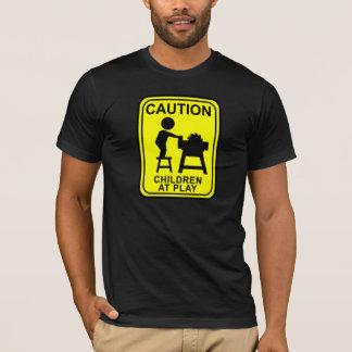 演劇の注意の子供-テーブルは見ました Tシャツ