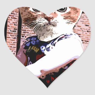 演劇の猫 ハートシール