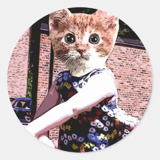 演劇の猫 ラウンドシール