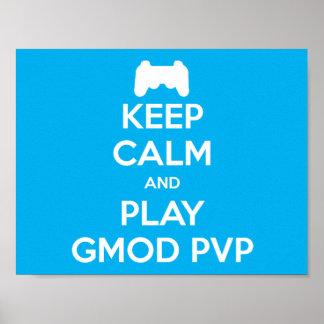 演劇のGmod穏やかなおよびPVPポスター保って下さい ポスター