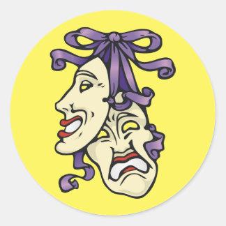 演劇的なマスク ラウンドシール