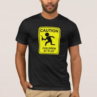 演劇-トーチのランナーの注意の子供 Tシャツ