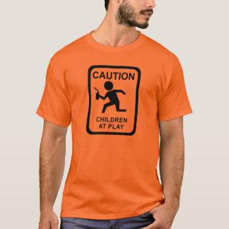 演劇-トーチの注意の子供 Tシャツ