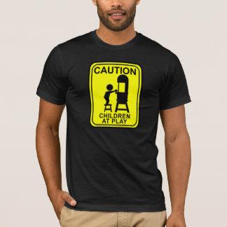 演劇-帯鋸の注意の子供 Tシャツ