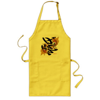 漢字のコイの魚愛 ロングエプロン