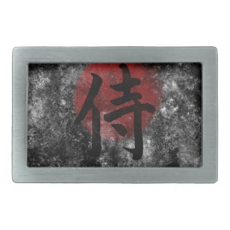 漢字の武士グランジな2 長方形ベルトバックル