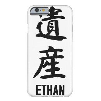 """漢字の""""ETHAN"""" BARELY THERE iPhone 6 ケース"""