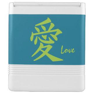 漢字愛カスタムな文字及び色のクーラー クールボックス