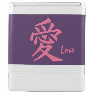 漢字愛カスタムな文字及び色のクーラー IGLOOクーラーボックス
