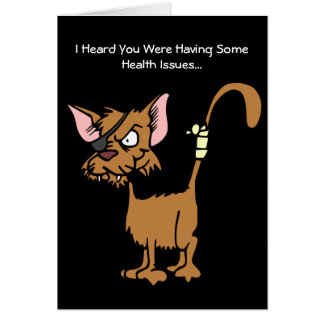 漫画によって傷つけられる猫の挨拶から井戸をすぐに得て下さい カード