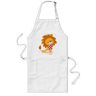 漫画によって嫌というほど与えられるライオンの料理のエプロン ロングエプロン