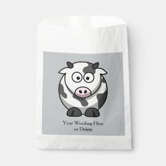 漫画によって斑点を付けられる牛ピンクの鼻の誕生日か習慣 フェイバーバッグ