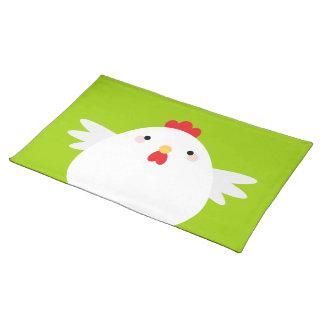 漫画のかわいいの鶏 ランチョンマット