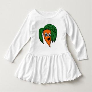 漫画のにんじんのキャラクターのワイシャツ ドレス