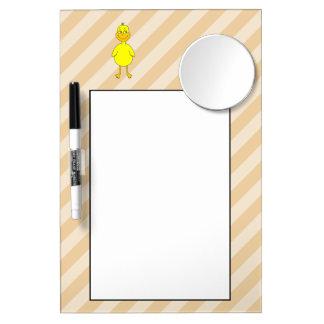 漫画のアヒル ミラー付きホワイトボード