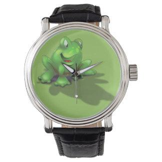漫画のカエルの腕時計 腕時計