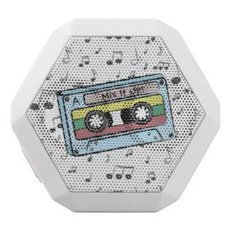 漫画のカセットテープ及び音楽ノート(組合せそれ) ホワイトBluetoothスピーカー